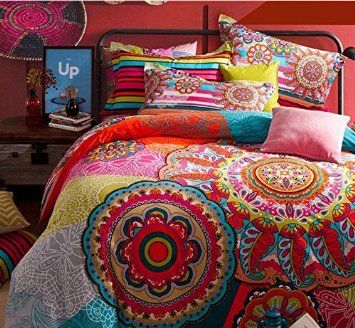 Amazon.com - FADFAY Home Textile, Boho Style Bedding Set, Boho ... : amazon bed quilts - Adamdwight.com