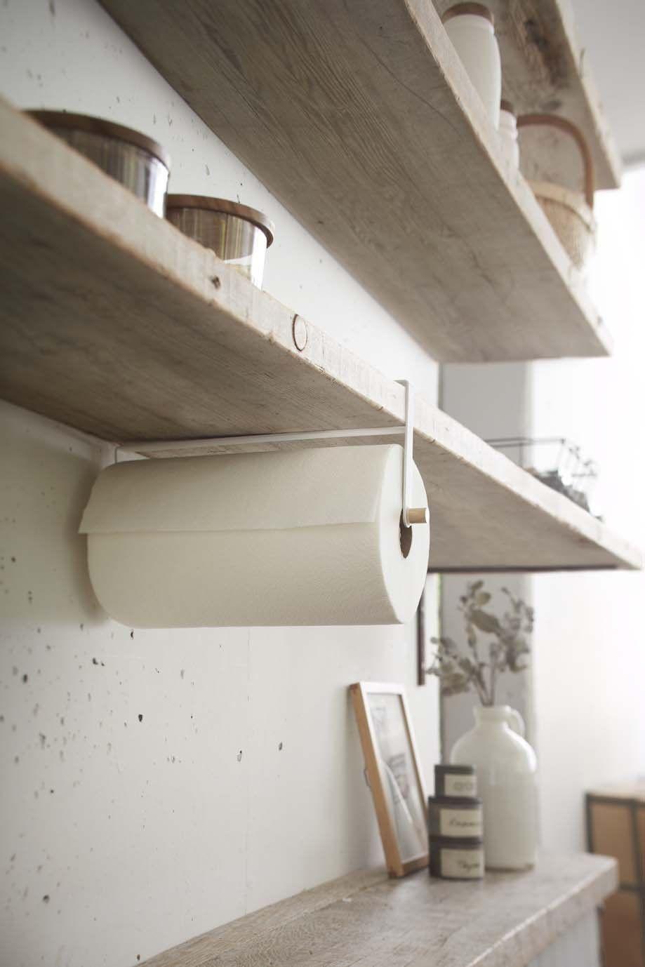 Yamazaki Home Tosca Under Shelf Paper Towel Holder Kitchen