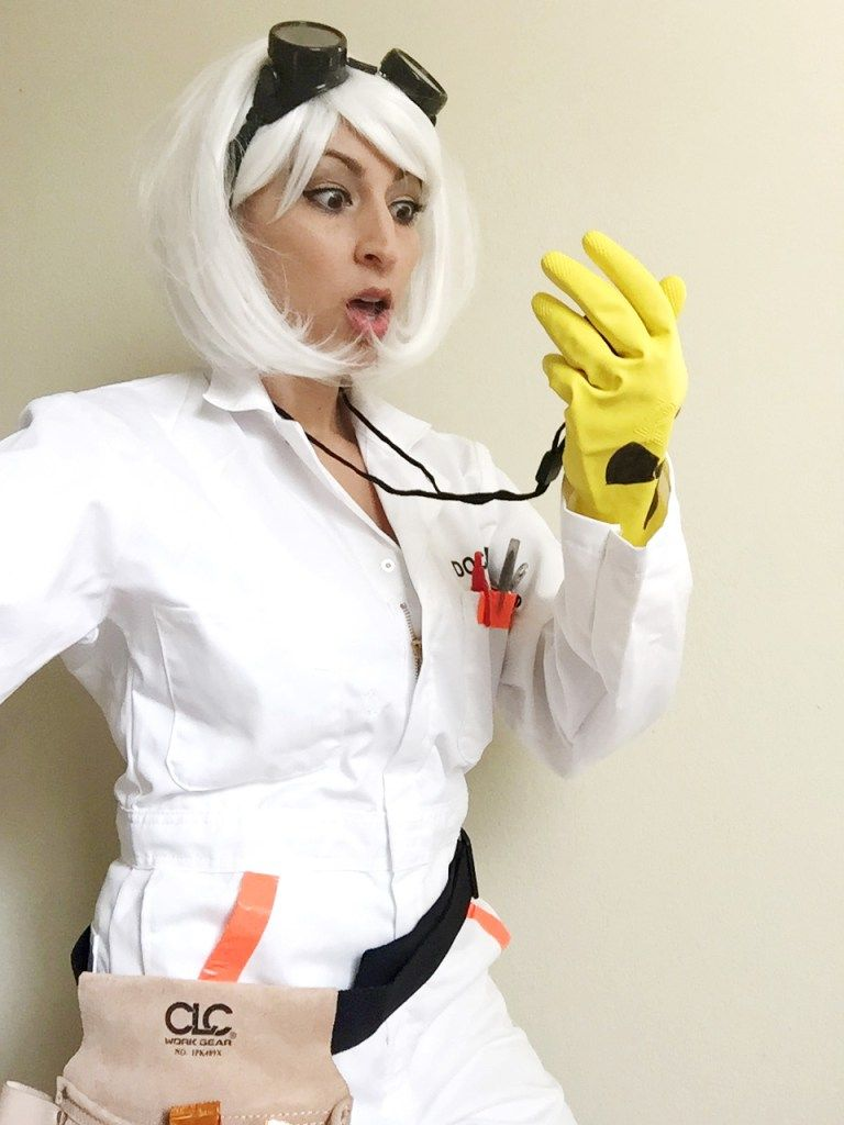 female doc brown cosplay - back to the future | geek piñata
