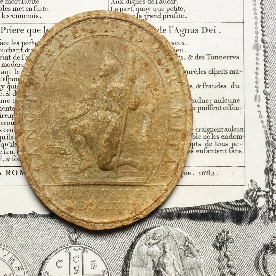 Italian Agnusdei (Lamb of God) wax of Pope Pius VI