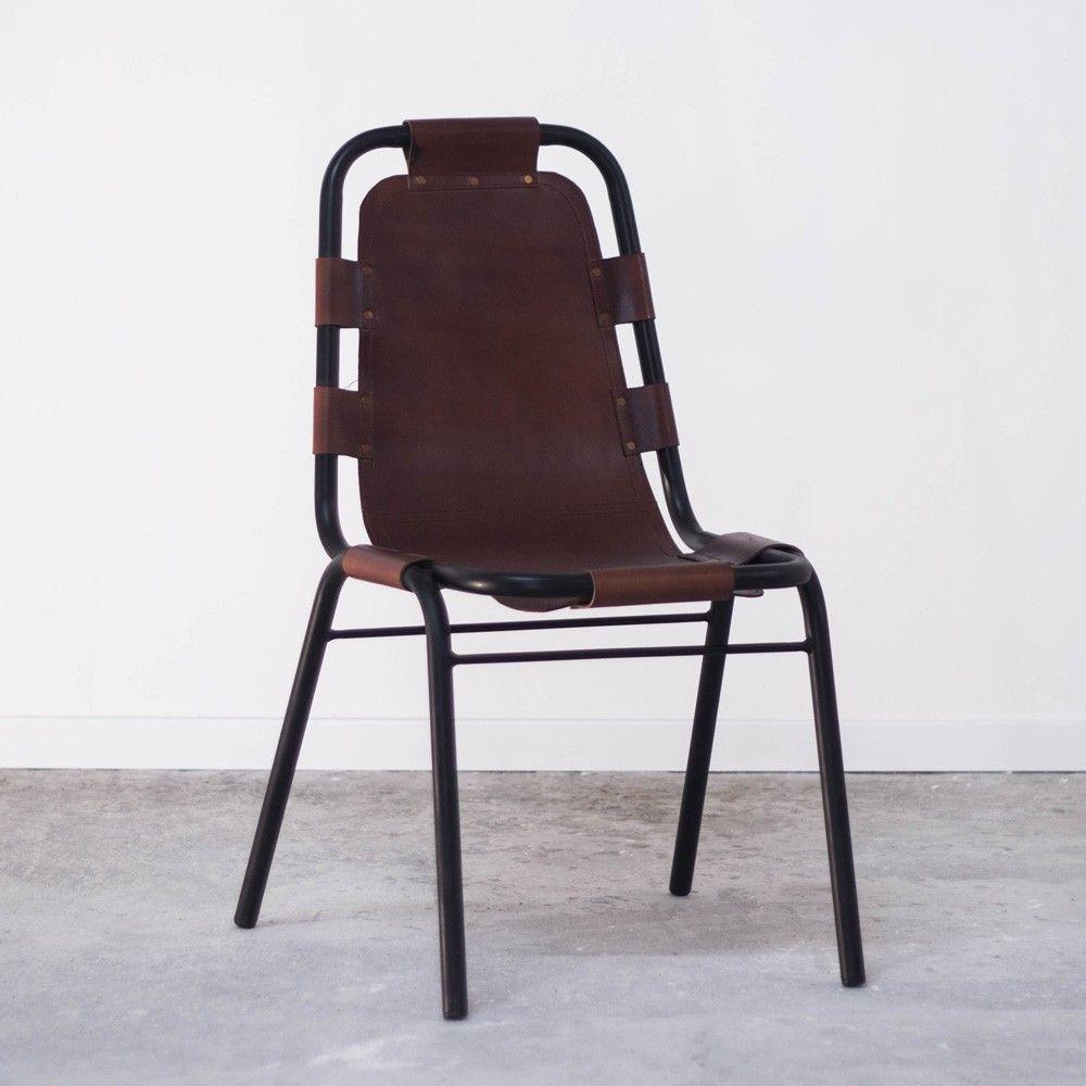 Chaise Metal Cuir Interieur Creatif Fauteuil Cuir Chaise Cuir Chaise Fauteuil