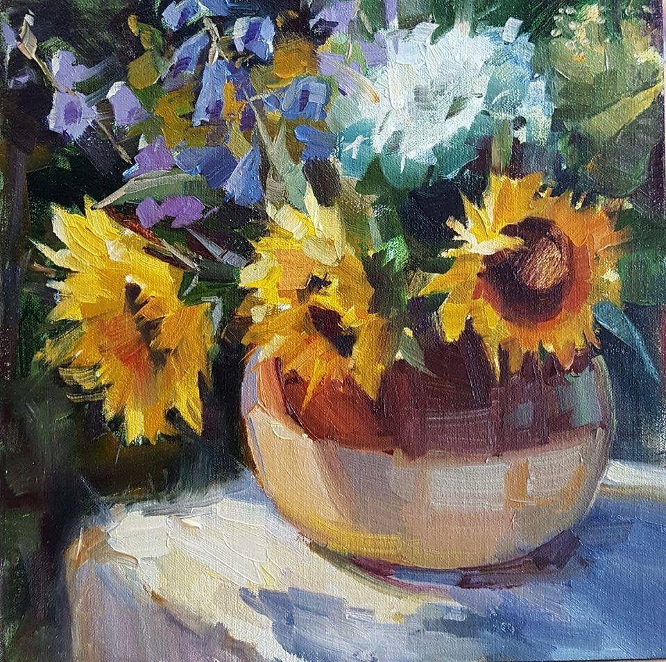 Pin by ellen kane on flowers painting flowers art
