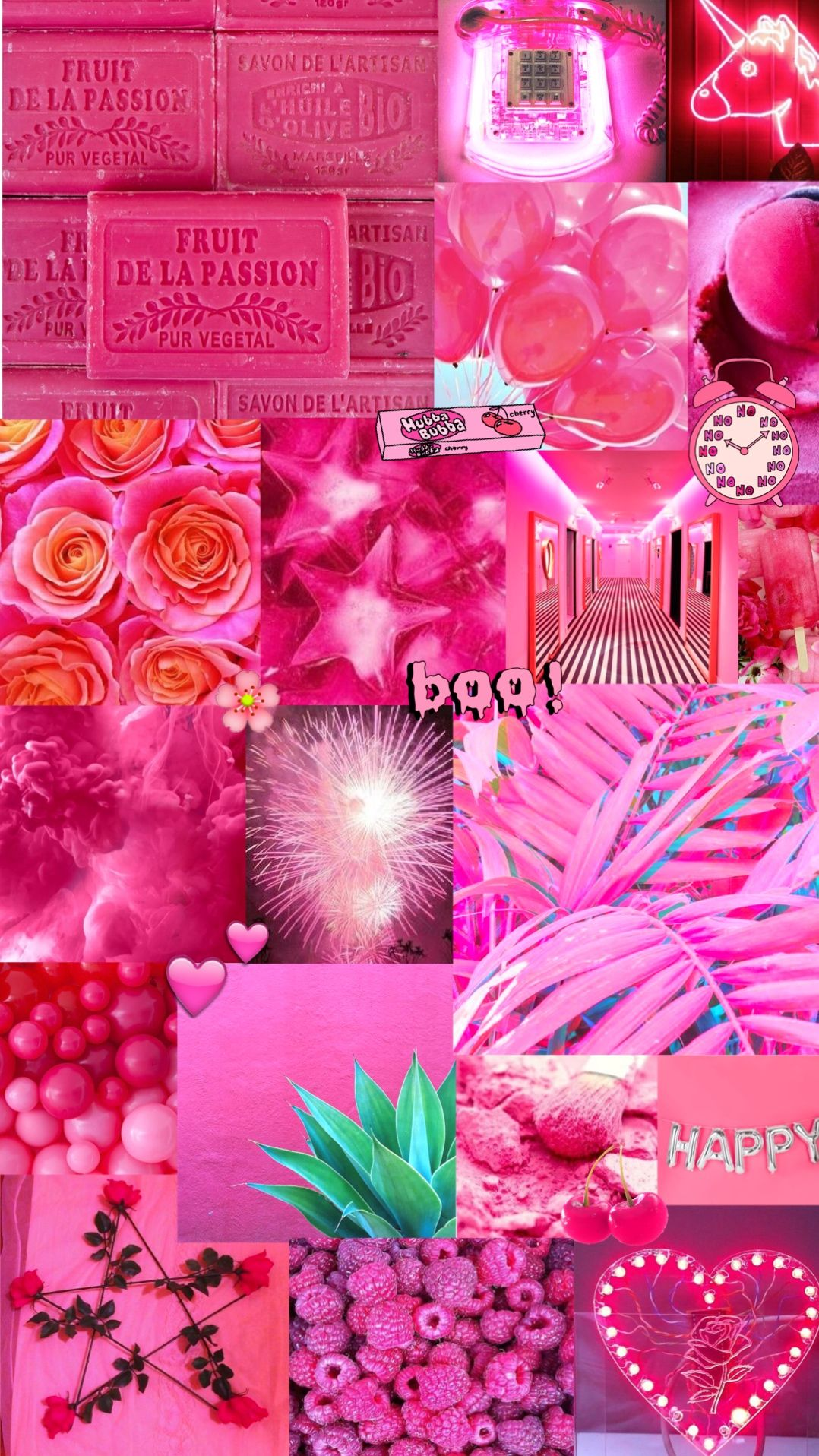 bright pink aesthetic background Aesthetics/Collages in