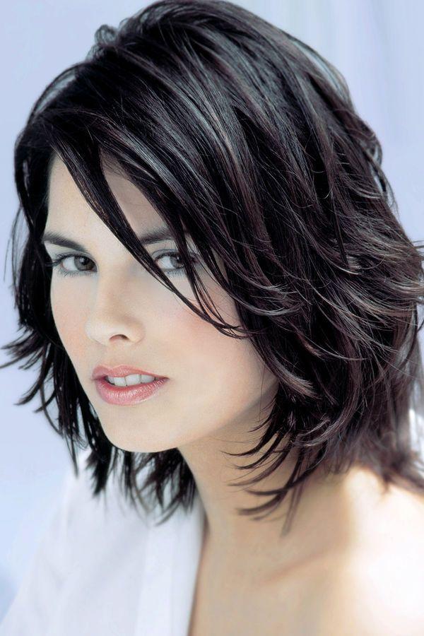 стрижки для волнистых волос средней длины фото без укладки ...