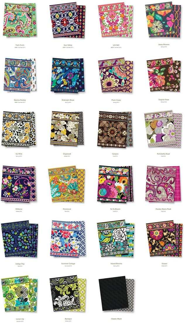 62d78feabba6 Vera Bradley patterns