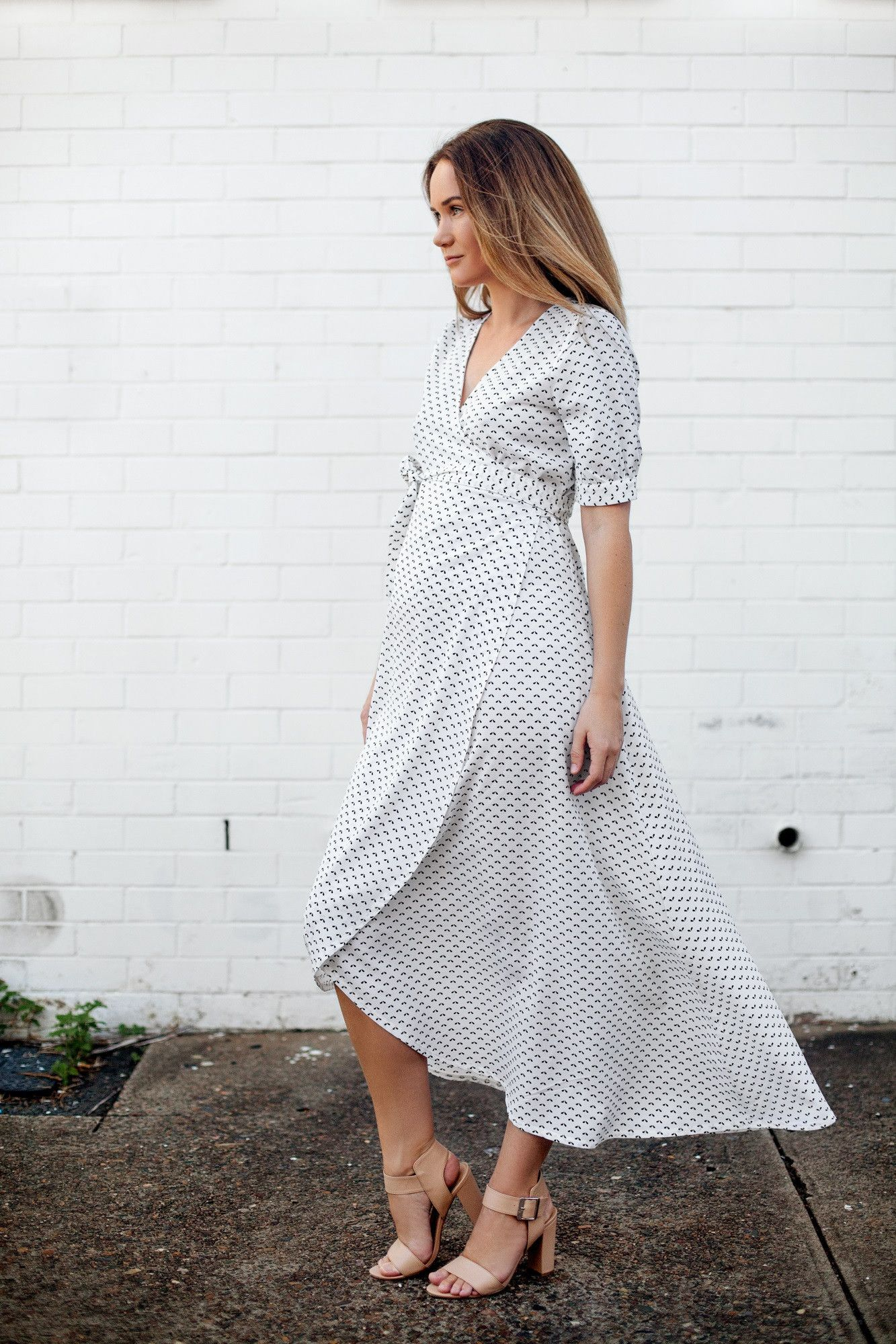Maternity Clothes Australia Harlow White Wrap Maive