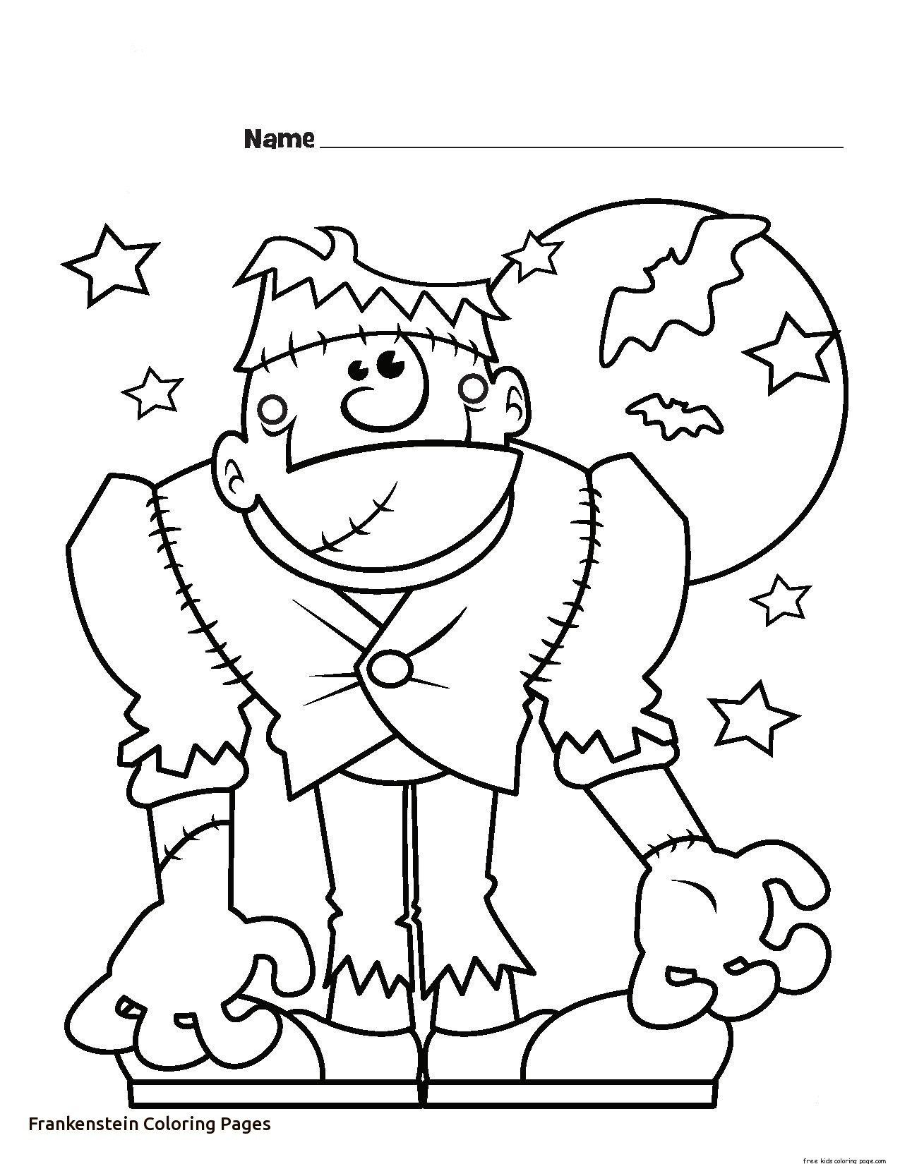 24 Awesome Picture Of Frankenstein Coloring Pages Halloween