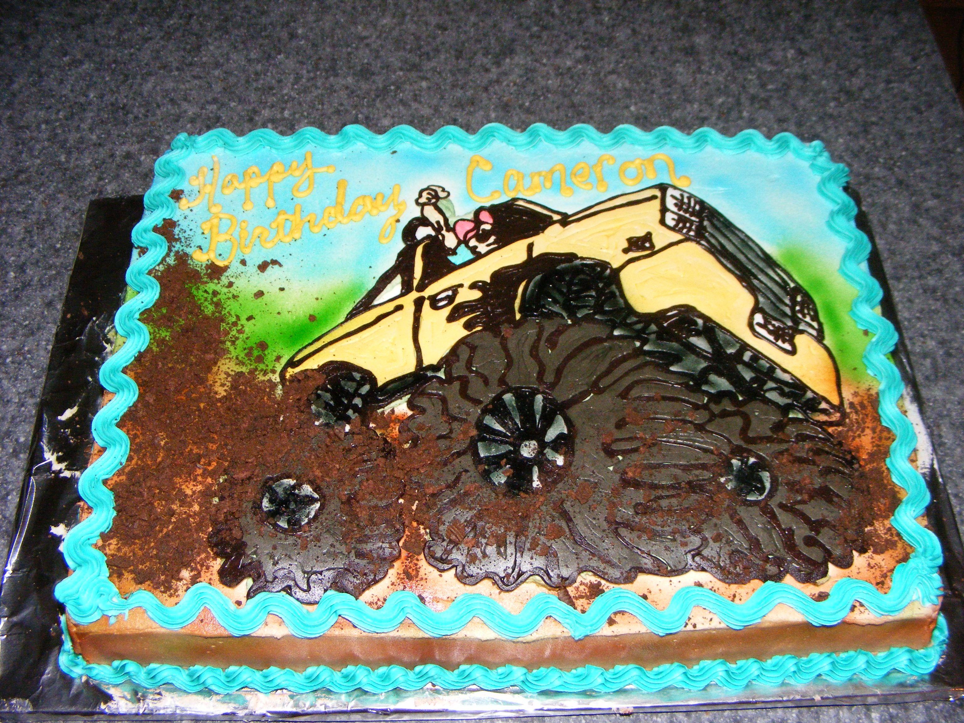Miraculous Mudding Birthday Cake Mud Truck Childrens Birthday Cakes Funny Birthday Cards Online Aboleapandamsfinfo