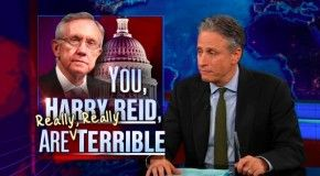 Jon Stewart: You, Harry Reid, Are Really, Really Terrible- Even Jon Stewart is disgusted with the tactics of Team Obama, as one of his prime goons floats another lie about Mitt Romney. These tactics remind me of Joe McCarthy and his lies and smears. You can smell the fear coming off Obama supporters that their hero is doomed to lose this election and with him control of the Senate, as well as the house.