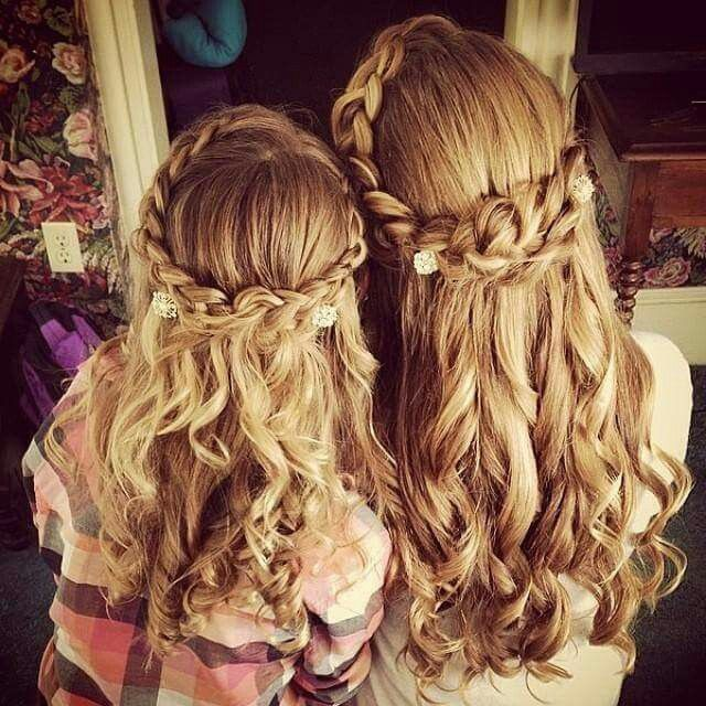 Wedding Hairstyles For Young Bridesmaids: Cute Flower Girl/ Young Bridesmaid Hair