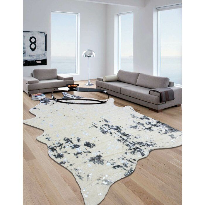 Dowell Gray Beige Area Rug In 2020 Cow Hide Rug Faux