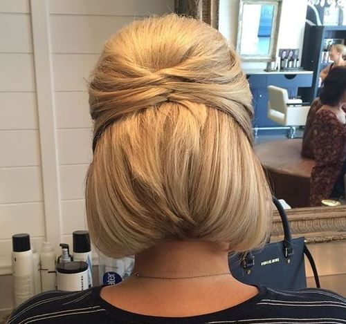 50 Half Updos For Your Perfect Everyday And Party Looks Short Hair Updo Short Hair Up Hair Styles