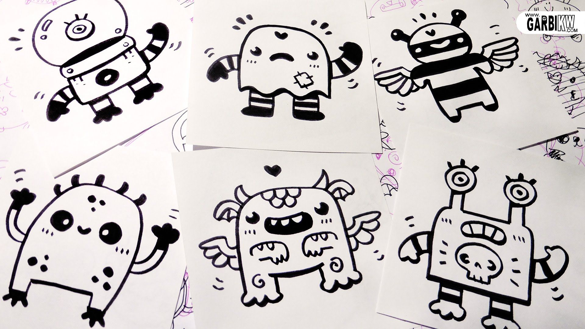How To Draw 6 Little Monsters For Your Doodles Easy And Kawaii