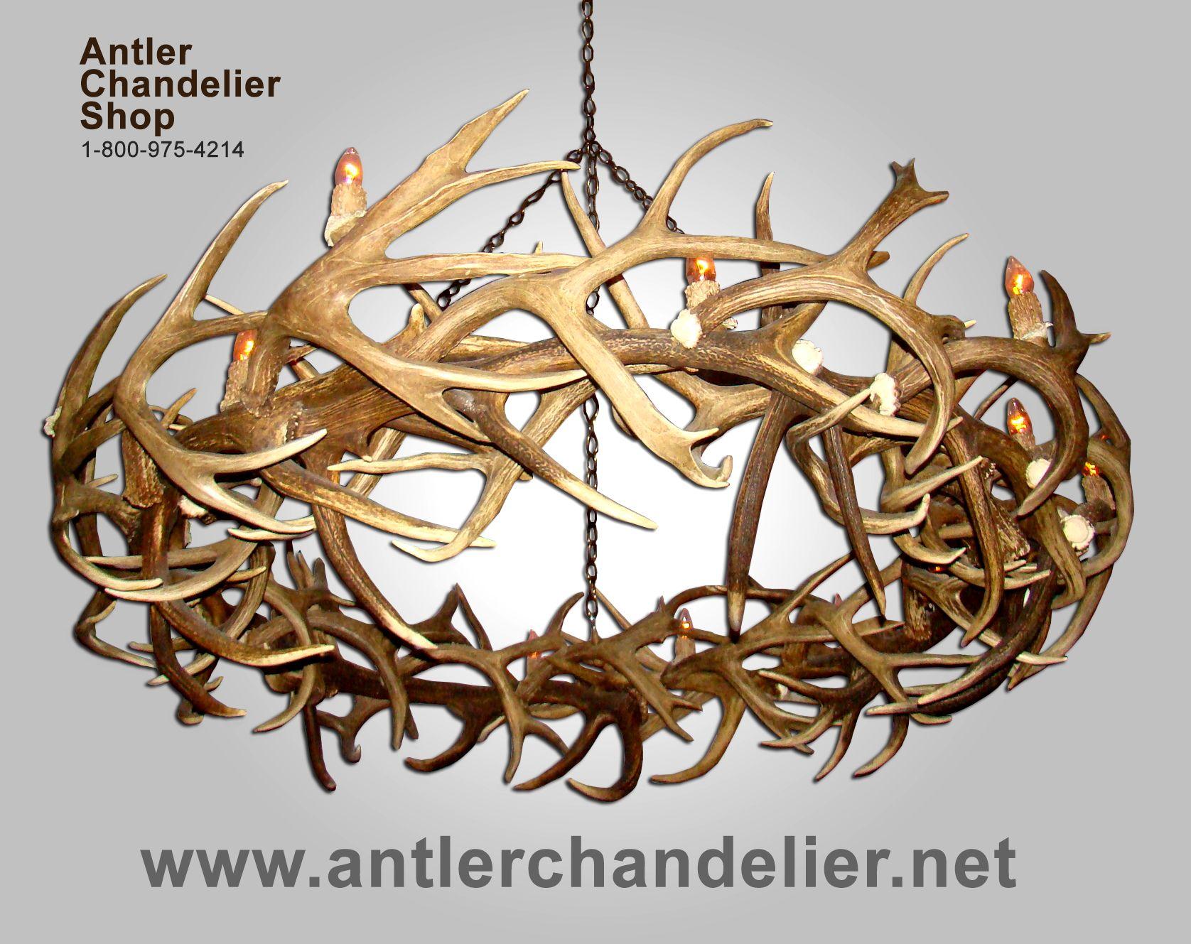 deer antler chandelier XL Antler Chandeliers