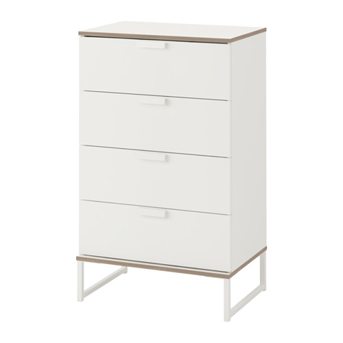 Trysil Chest Of 4 Drawers White Light Grey 60x99 Cm Ikea Ikea Trysil Trysil White Chest Of Drawers