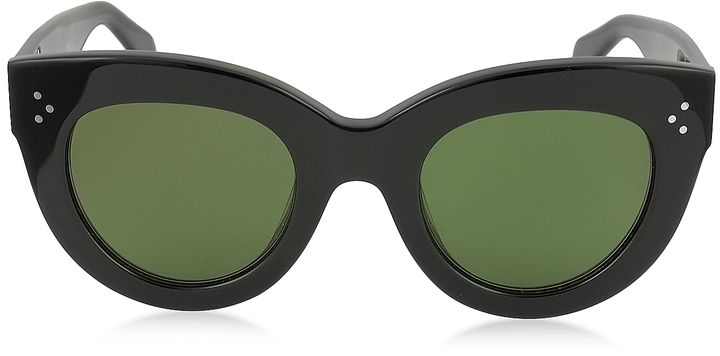 15d2a2f556 Celine CATY CL 41050 S 8071E Black Acetate Cat Eye Women s Sunglasses