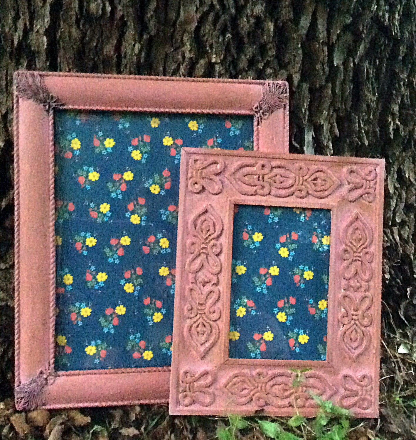 Set of Pink Blush Ornate Picture Frames, holds 8x10 and 4x6 pictures ...