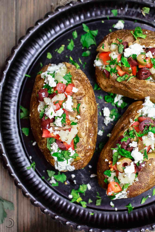 Photo of Mediterranean Loaded Baked Potato Recipe | The Mediterranean Dish