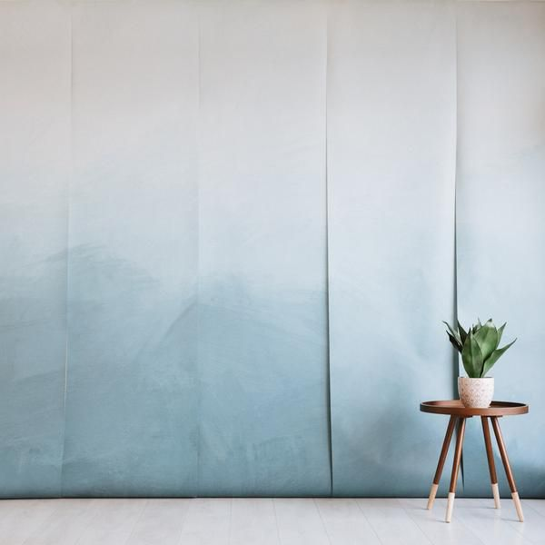 Bring misty element to your space! Details include:  Blue-toned, misty ombre design Smooth, matte finish Includes six panels