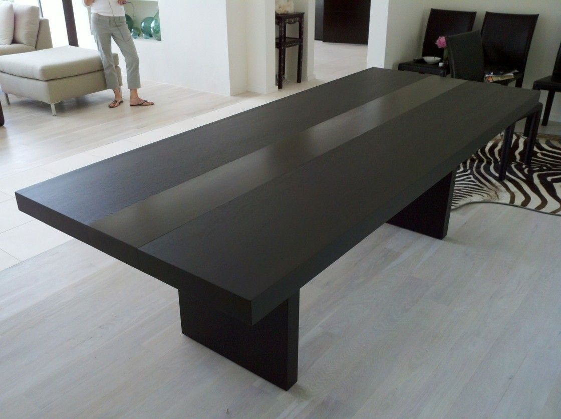 Adorable Black Dining Room Modern Glass Top Table Black And