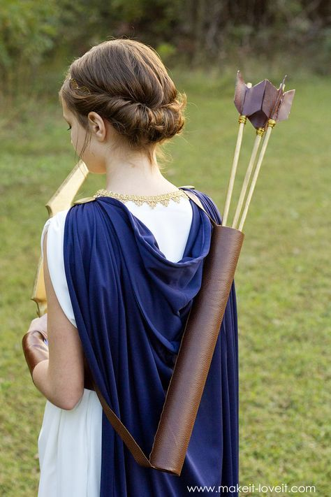 DIY Greek Goddess Costume: ARTEMIS | Goddess costume ...