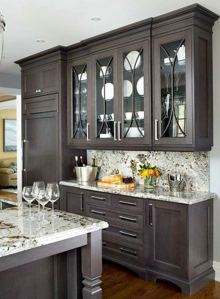 Cabinet Counter Color Like Mix Of Glass And Solid Dining Kitchen