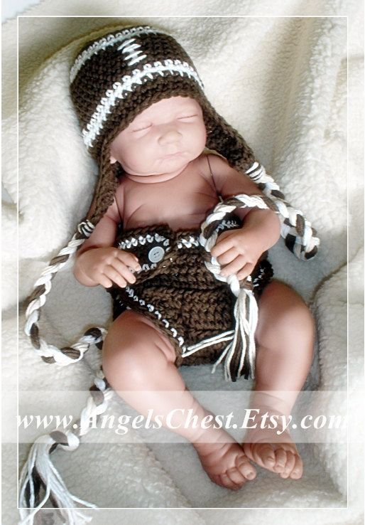 Football Hat and Diaper Cover - Newborn to Adult (LOL) - hand ...