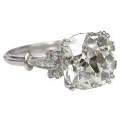 1920 Cushion cut engagement ring 3.87 carat