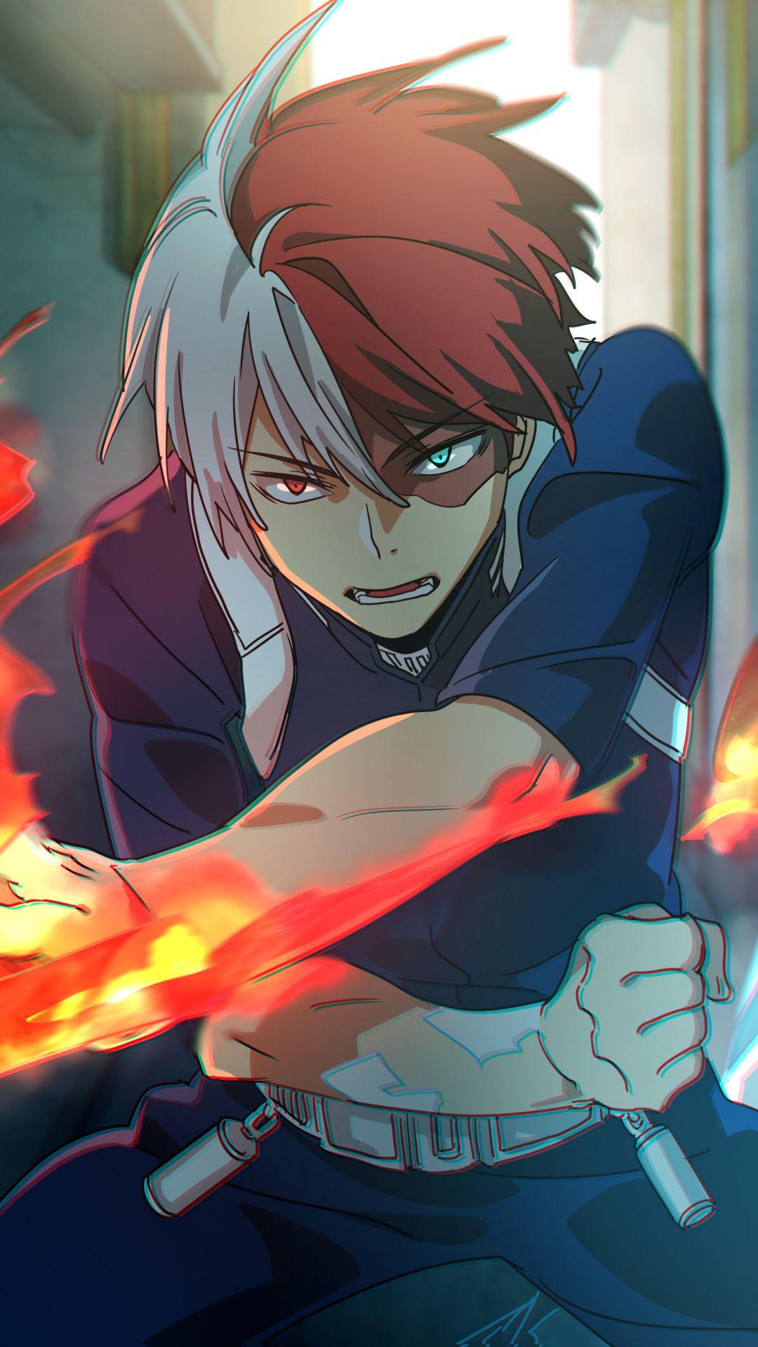 Todoroki Shouto, Arte mangá, Personagens de anime