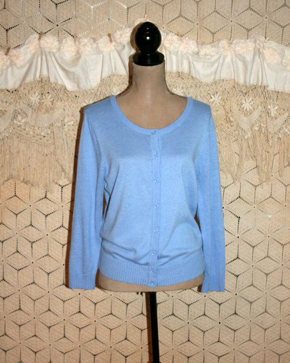 Blue Cardigan Sweater Periwinkle Size Large by MagpieandOtis