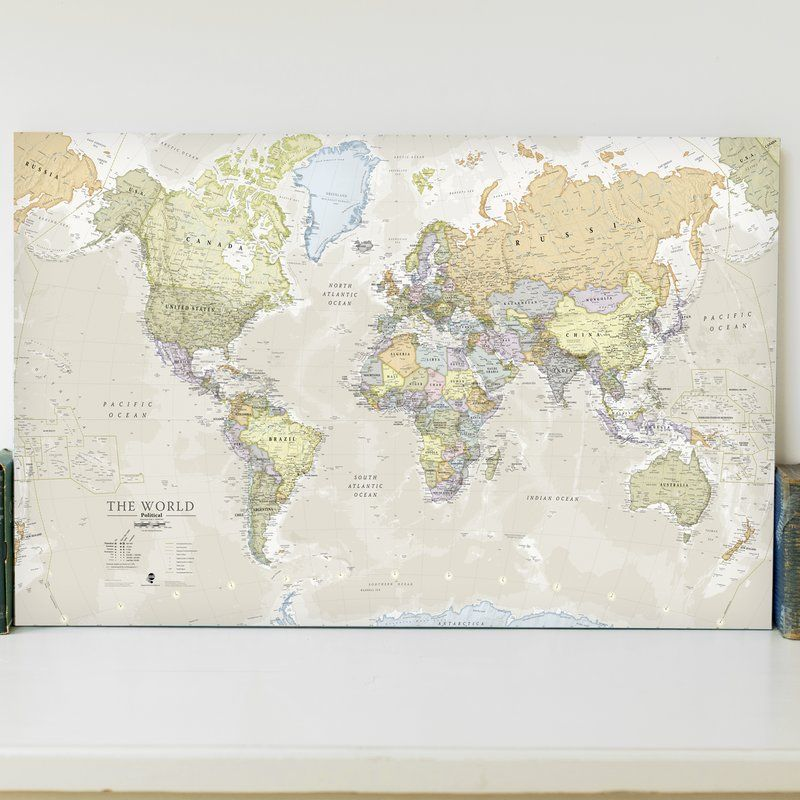 A popular classic world map graphic art print on canvas with its a popular classic world map graphic art print on canvas with its artistic classic style muted tones it looks simply stunning and rather elegant gumiabroncs Image collections