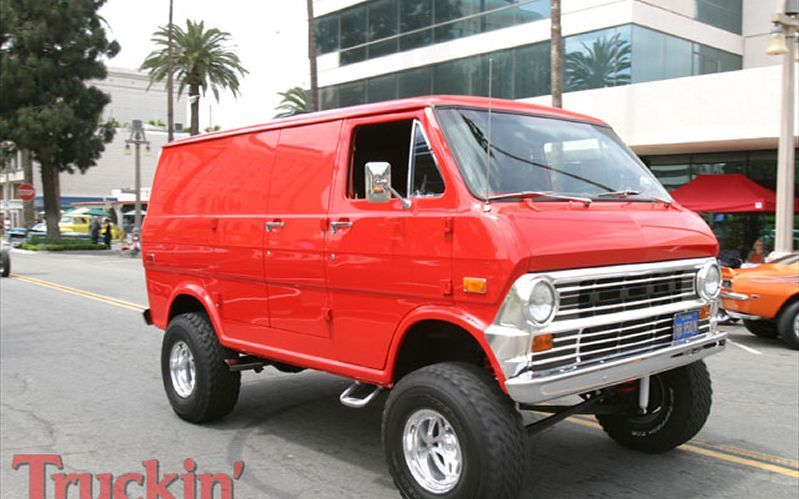 2009 Show And Go Riverside Lifted Red Ford Econoline Van Photo 129