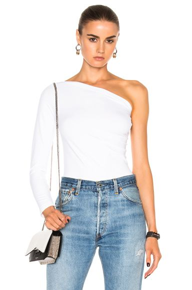 0ce1487e47f One Shoulder Long Sleeve Top   Covet in 2019   Off one shoulder tops ...