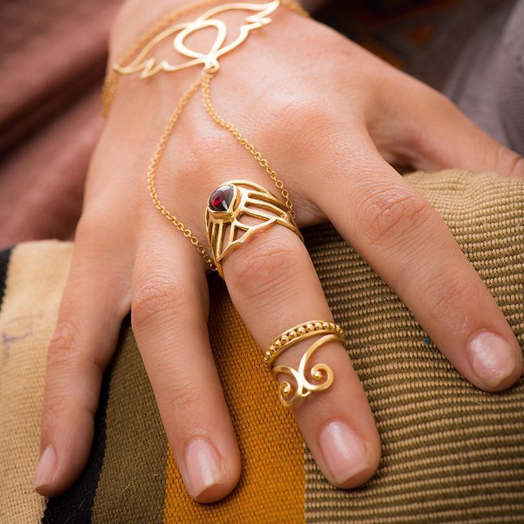 Gold Knuckle Ring Set 2 Midi Ring Set Stacking Rings