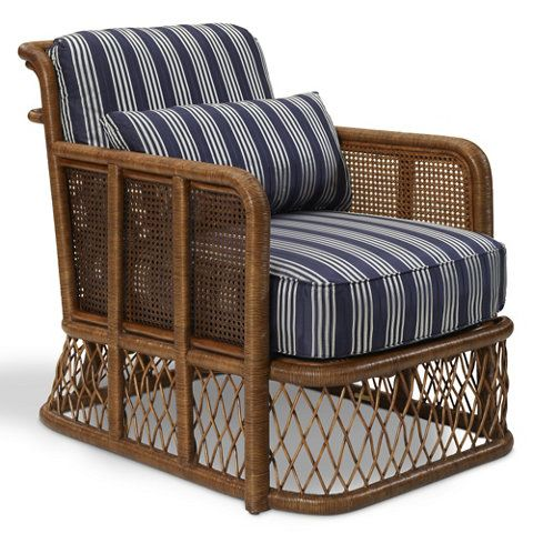 Indian Cove Lodge Wicker Club Chair - Chairs / Ottomans - Furniture ...