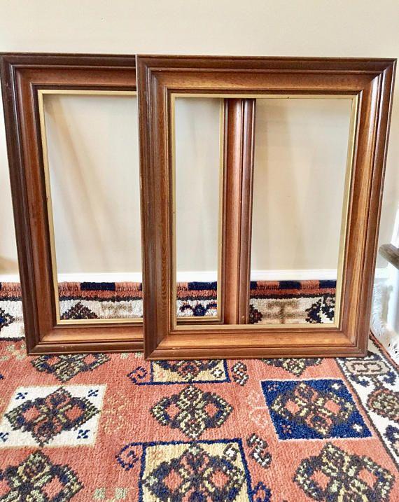 2 Wood Frames Wood Picture Frames Large Frame Vintage Frame New