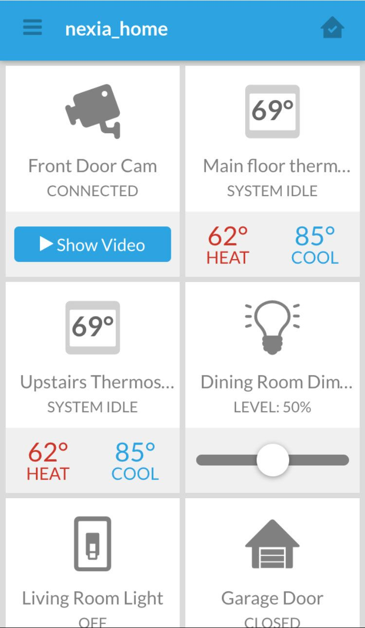 Nexia is a smart home automation system that integrates all of your ...