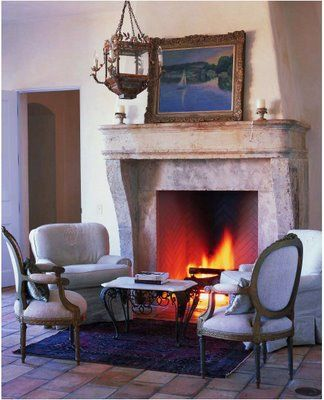 Antique Limestone Fireplace Inspired By Inspired The Provencial