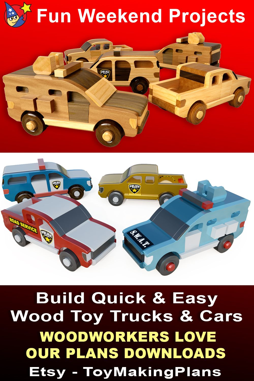 Mighty Minis Rapid Response Team Wood Toy Plans (3 PDF