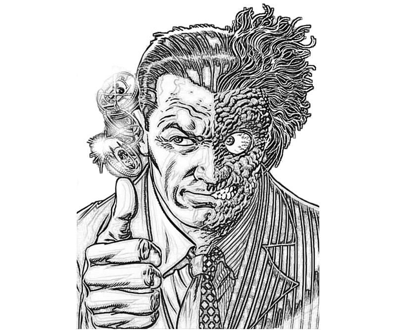 from batman two face coloring images - Google Search | cards ...
