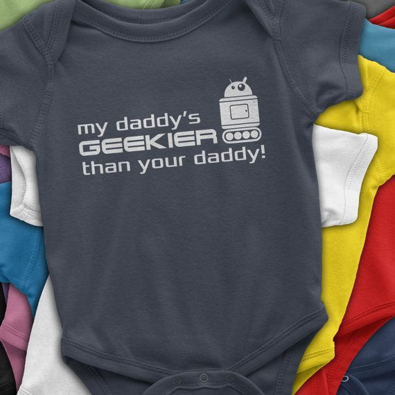 New Dad Gift Daddy Baby Clothes Geeky Dad Gift by ...