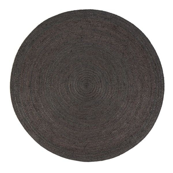 Jani Tara Charcoal Grey Jute Area Rug 8 Round