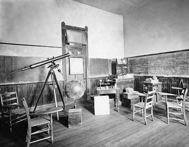 Professor Hagerty's math classroom around 1908