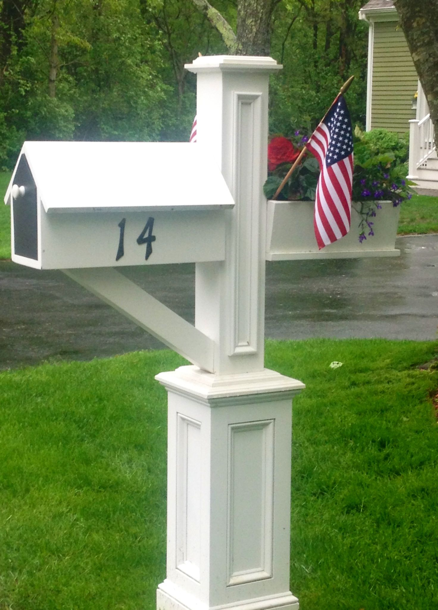 Solid Pvc Custom Mailbox Planter Combo Cape Cod Custom Flower Boxes