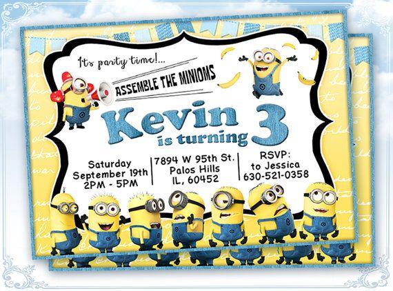 Minions Invitation Printable Minions Birthday Party Invitation