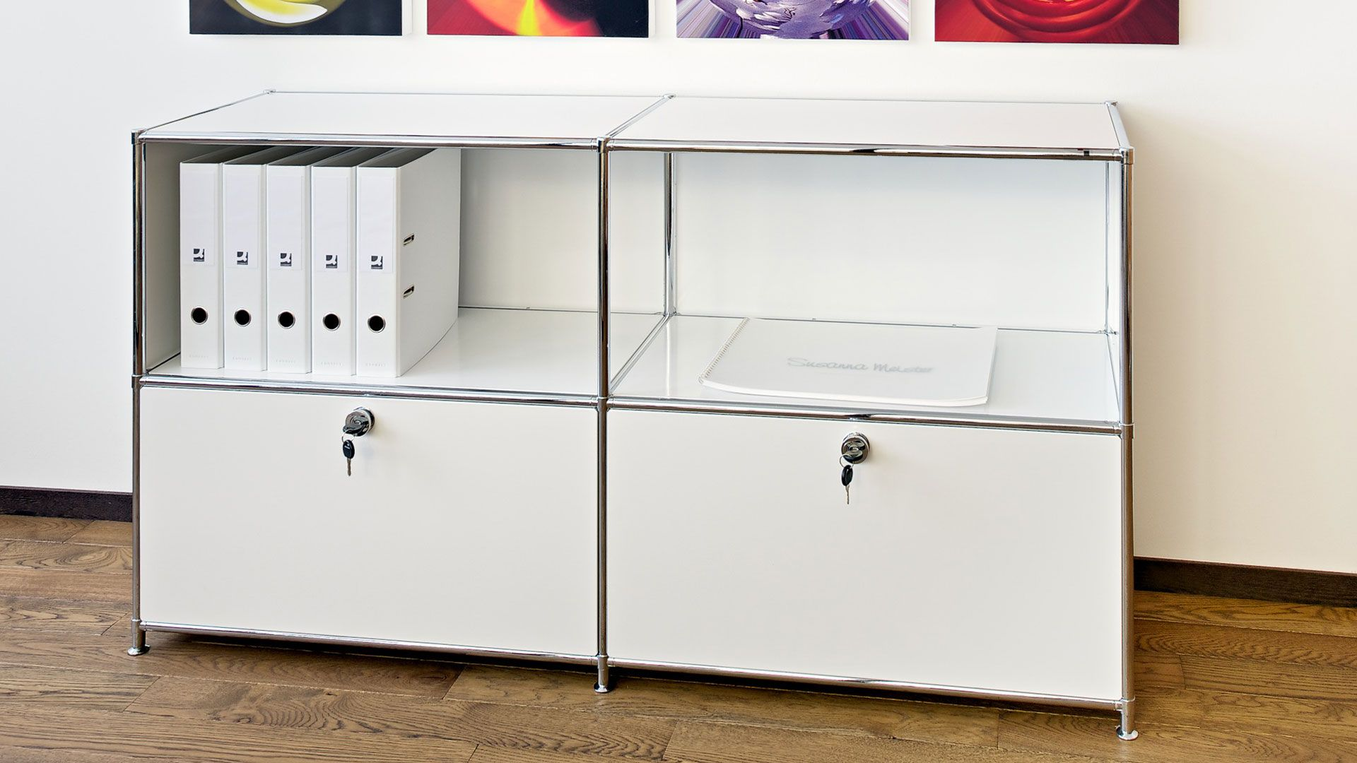 Sideboard Lowboard Bueromoebel Metall Breite 150 cm mit Klapptueren ...