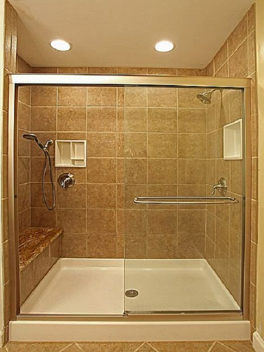 Small Bathroom With Glass Shower Stall And Gray Ceramic Wall Panel Plus Chrome Metal Towel Hanger The Best Design Of Very Small Bathrooms Ideas For Your