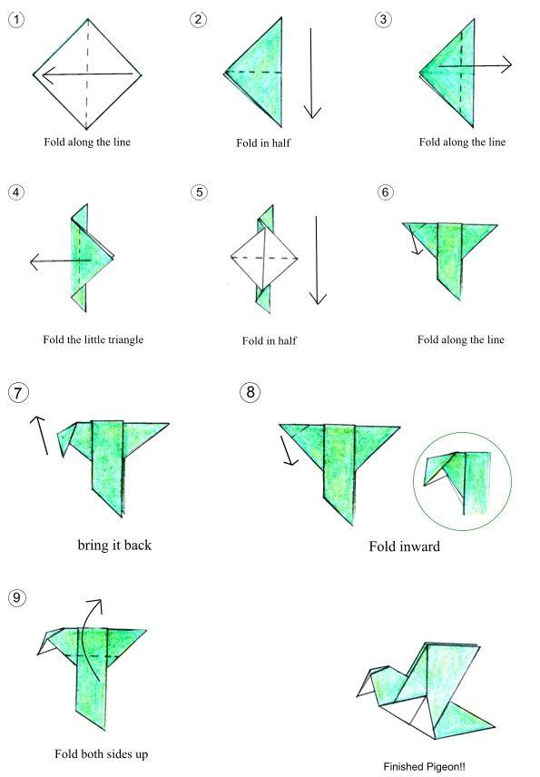 origami china pigeon diy pinterest origami china