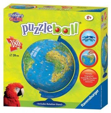 3d παζλ Ravensburger 180τεμ υδρογειοσ Childrens Globe Jigsaw Puzzles For Kids Kids Jigsaw