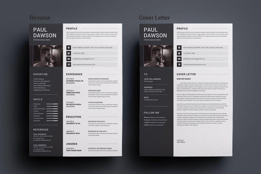 Ad Resume/CV by deviserpark on creativemarket. RESUME is